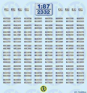 Euro Kfz-Kennzeichen »NRW« 1:87