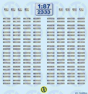 Euro Kfz-Kennzeichen »BW + RLP« 1:87