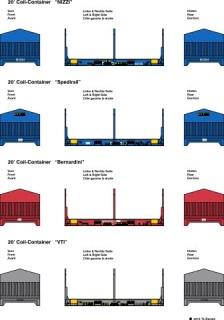 20 ft. Coil Container, 4 versch. Beschriftungen 1:87