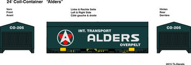 24 ft. Coil Container - Alders 1:87