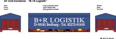 24 ft. Coil Container -B + R Logistik 1:87