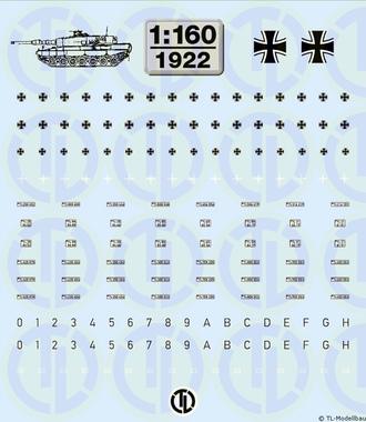 Bundeswehr Beschriftungen 1:160