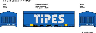 24 ft. Coil Container - TIPES 1:87