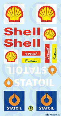 Shell / Statoil Werbetafeln 1:87