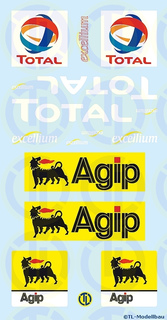 Total / Agip Werbetafeln 1:87