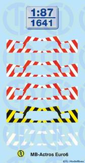 Warnstreifen  für MB-Actros Euro6 Stossstangen 1:87