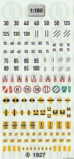 SBB-CFF-FFS Signaltafeln - Schweiz 1:160