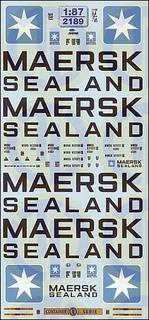 Maersk Sealand Beschriftungen 1:87