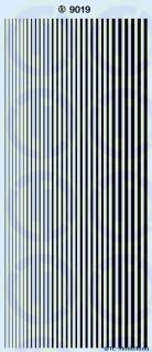 Streifen, schmal Schwarz