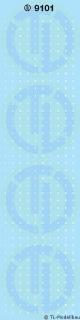 Zahlen  1mm Weiss