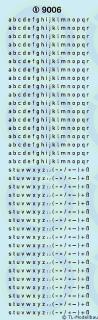 Kleinbuchstaben 2 mm Weiss