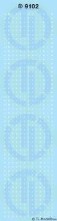 Grossbuchstaben 1 mm Weiss