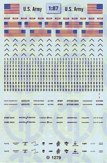 US-Army Beschriftungen 1:87