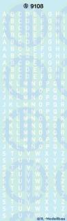 Grossbuchstaben 3 mm Weiss