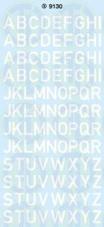 Grossbuchstaben 9 mm Weiß