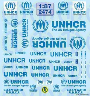 UNHCR Beschriftungen 1:87