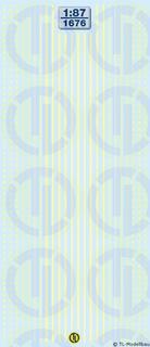 Lkw-Reflexstreifen - Leuchtgelb 1:87