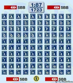 Schweizer Bahnhof SBB 1:87