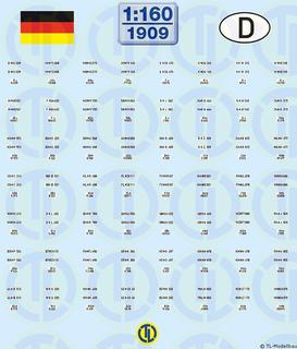 Deutsche Kfz-Kennzeichen 1956-2000 - 1:160