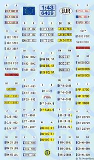 Kfz-Kennzeichen - EUROPA 1:43