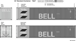 Bell Beschriftungen 1:87