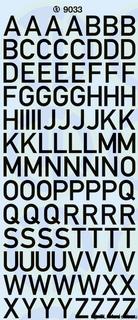Großbuchstaben 10 mm, schwarz