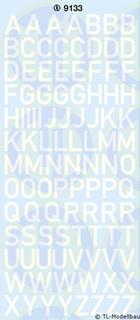 Großbuchstaben 10 mm, weiss