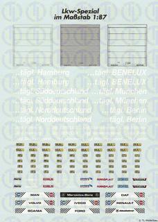 Lkw-Bogen mit Rolltornachbildungen 1:87