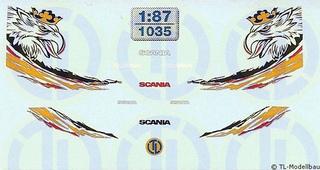 """Scania Fahrerhaus Dekor """"Der besondere Greif"""" 1:87"""