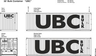 UBC Beschriftungen 1:87
