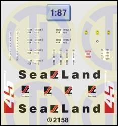 Sea Land Beschriftungen 1:87