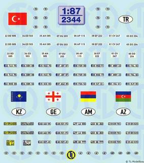 Kfz.-Kennzeichen »Türkei u.a.« 1:87