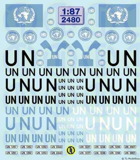 UN-Decalbogen 1:87