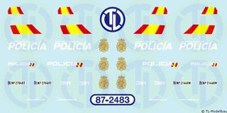 Polizei Decalbogen - Spanien 1:87
