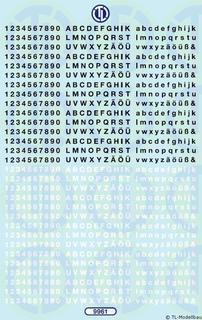 Zahlen und Buchstaben 2,5 mm