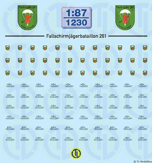 BW - Fallschirmjäger Btl. 261 - 1:87