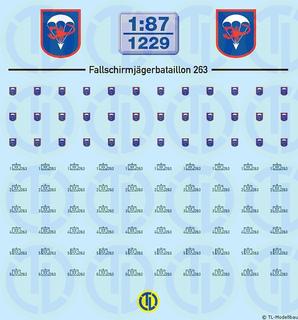 BW - Fallschirmjäger Btl. 263 - 1:87