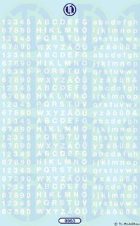 Zahlen und Buchstaben 3,5 mm - Weiß