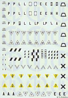 Signaltafeln Decalbogen »DB/DR« 1:120