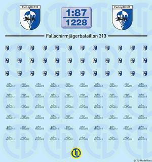 BW - Fallschirmjäger Btl. 313 - 1:87