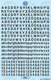 Zahlen und Buchstaben 4,5 mm - Schwarz