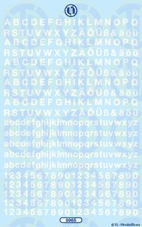 Zahlen und Buchstaben 4,5 mm - Weiß