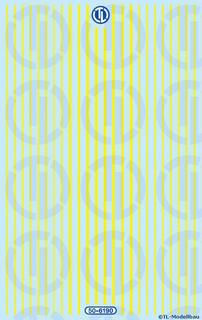 Lkw-Reflexstreifen - Gelb 1:50