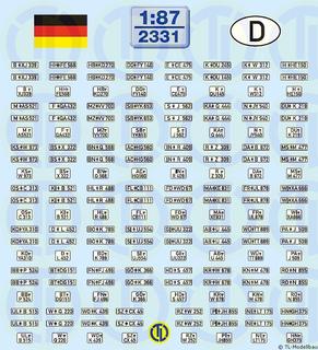 Deutsche Kfz-Kennzeichen 1956-2000