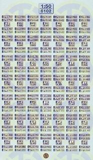 Euro Kfz-Kennzeichen »Deutschland« 1:50