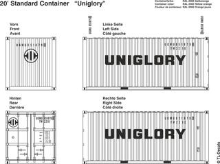 Uniglory Beschriftungen 1:87