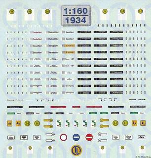 Bus Decalbogen 1:160