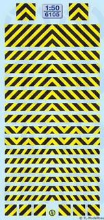 Warnstreifen Schwarz/ Gelb 1:50