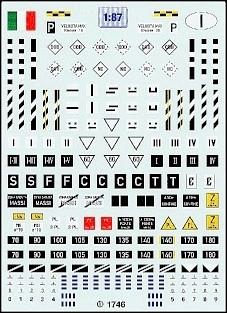 FS Signaltafeln Decalbogen - Italien 1:87