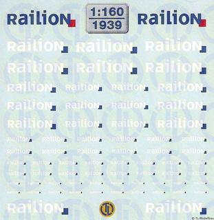 Railion Beschriftungen 1:160
